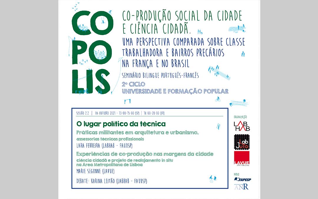 Co-produção social da cidade e ciência cidadã. Uma perspectiva comparada sobre classe trabalhadora e bairros precários na França e no Brasil